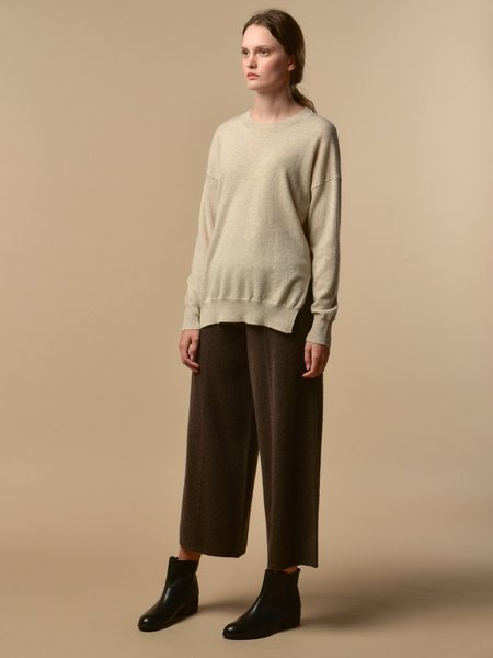 PURECASHMERE NYC Loose Fit Pants - Cocoa Brown