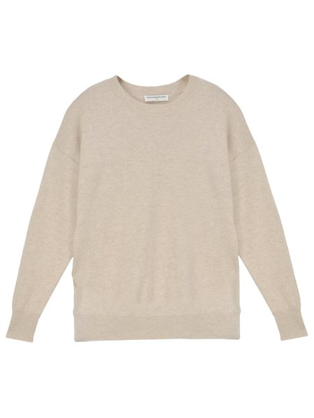 PURECASHMERE NYC Loose Fit Sweater - Oatmeal