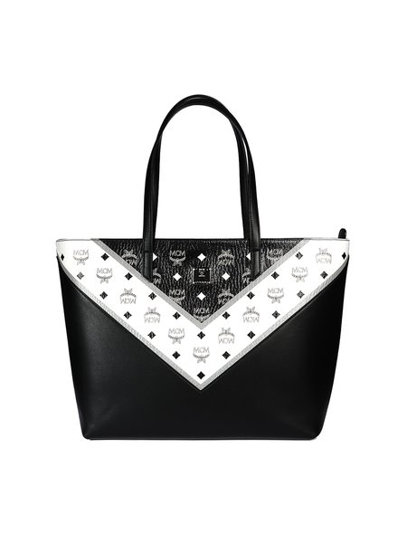 MCM M MOVE VIS SHOPPER MED BK bag - black