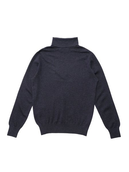 Maison Kitsuné Fox Head Patch Merinos Turtleneck - Indigo
