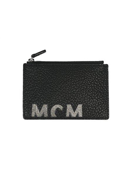MCM NEW BIG LOGO U-C18-1 CARD HOLDER bag - black