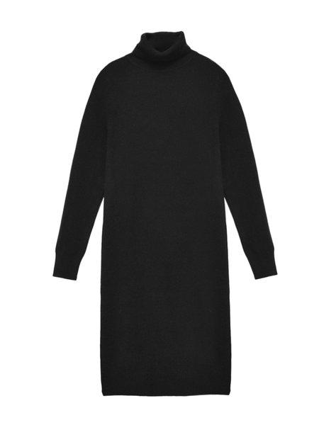 PURECASHMERE NYC Turtleneck Dress - Black
