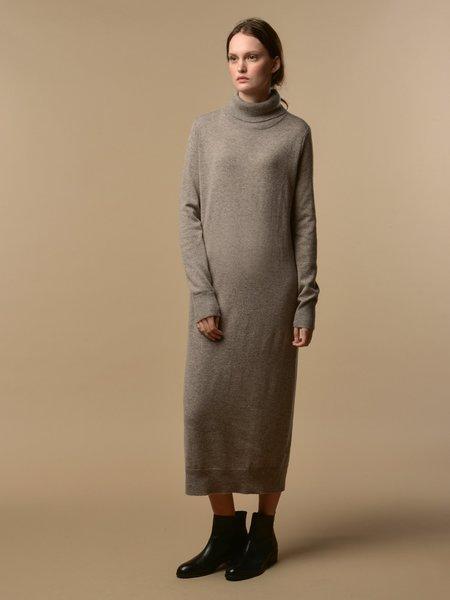 PURECASHMERE NYC Turtleneck Maxi Dress - Beige