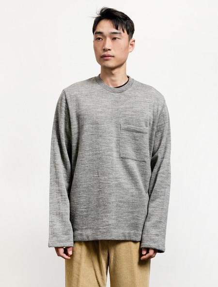 Our Legacy  Box Longsleeve Grey Melange Wool
