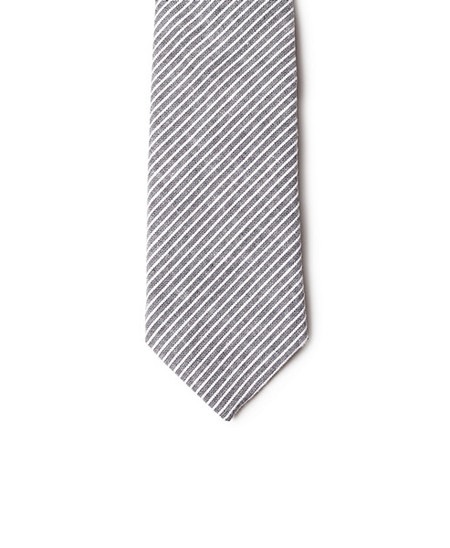 Neighbour Cotton Tie Black Striped
