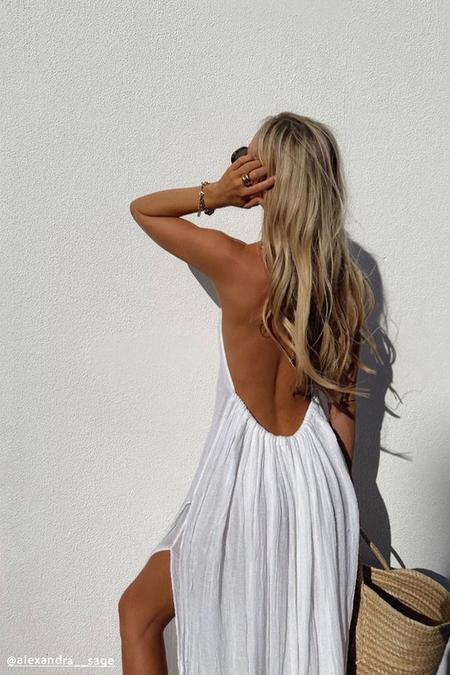 Jen's Pirate Booty Grecian Margarita Maxi Dress - White