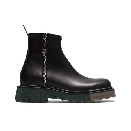 OFF-WHITE Sponge sole zip boots - Black