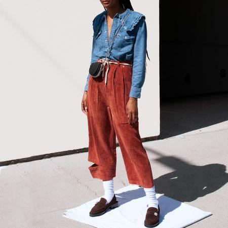 GANNI x Levi's Exaggerated Collar Shirt - Medium Indigo