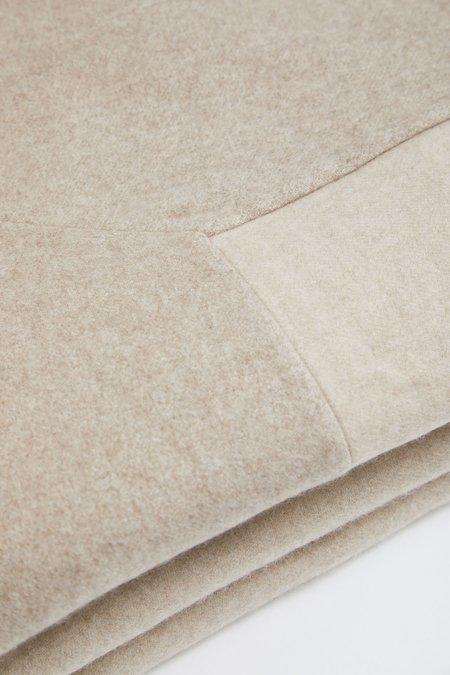 Oyuna Etra Heavyweight Timeless Luxury Cashmere King Size Bedspread - Beige/Melange Taupe