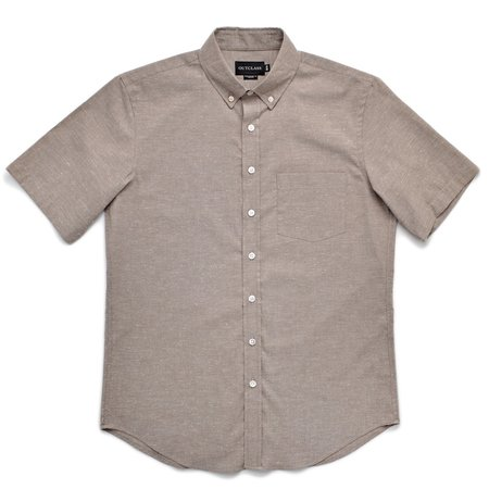 Outclass Flecked S/S Shirt - Taupe