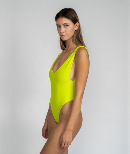 The Saltwater Collective Kylah One Piece - Chartreuse
