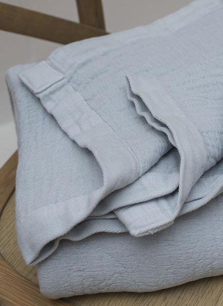 CLEMENTINE'S Porto Stonewashed Cotton Throw - Mineral Blue