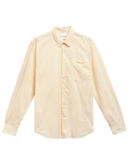 Our Legacy First Shirt Washed Yellow Poplin