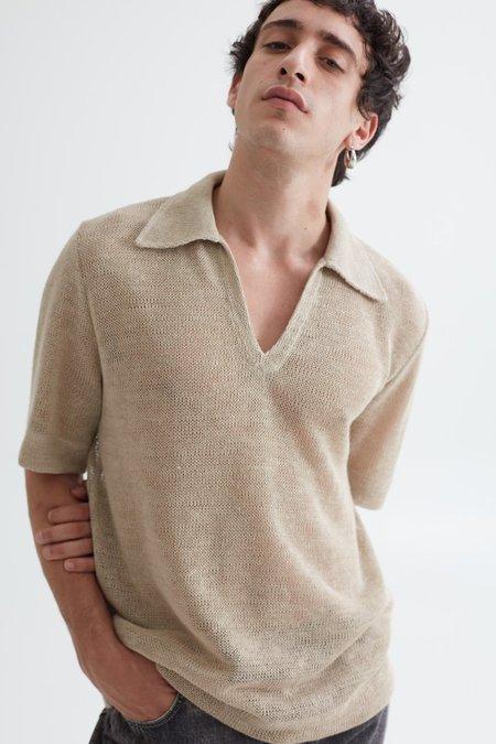Séfr Mate Short Sleeve Sweater - Beige