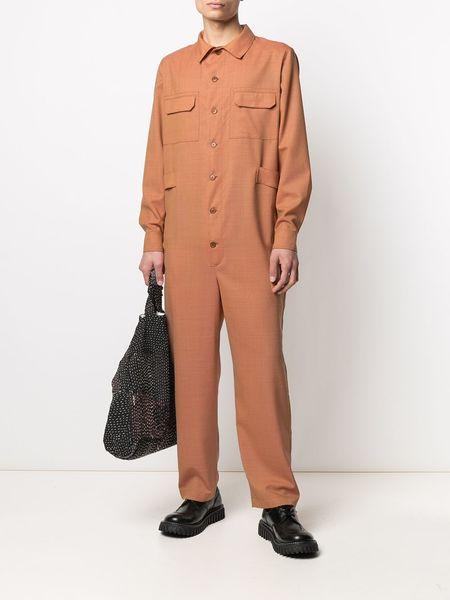 Henrik Vibskov Blaze Wool Jumpsuit - Orange Tropical