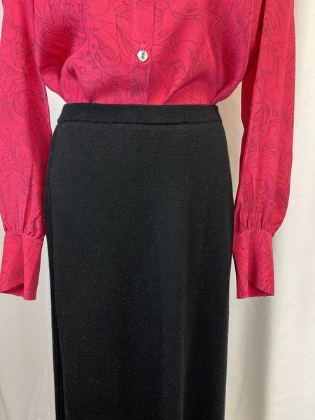 Pre-loved Eileen Fisher Wool/Silk Maxi Skirt - Black