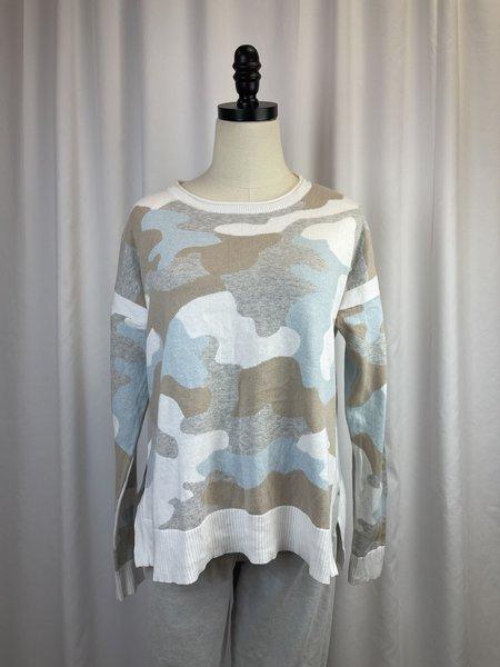 Pre-loved Lisa Todd Camo Cotton Sweater - khaki/blue/grey