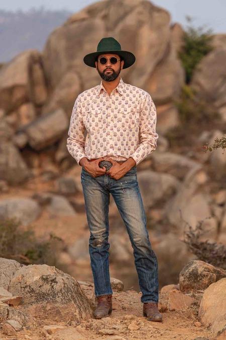 Dushyant Asthana The Bandit Western Shirt - Floral Print