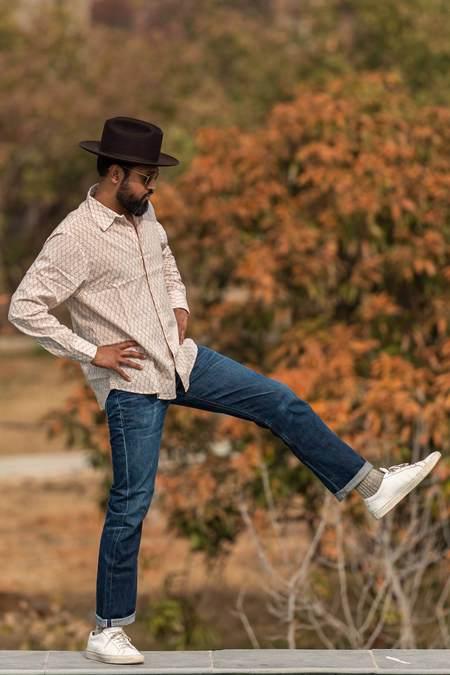 Dushyant Asthana The Barrington Long Sleeves Shirt - Brown Leaf Print