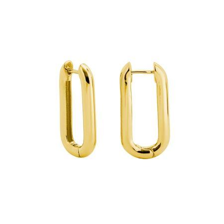 Machete Link Earrings - Gold