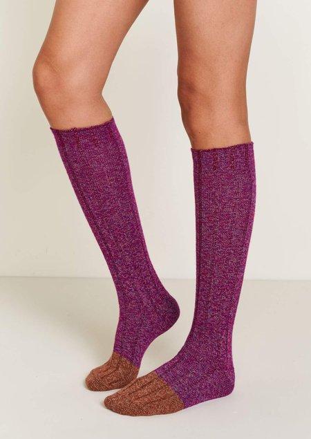 Bellerose Faphne Socks - Purple/Mustard