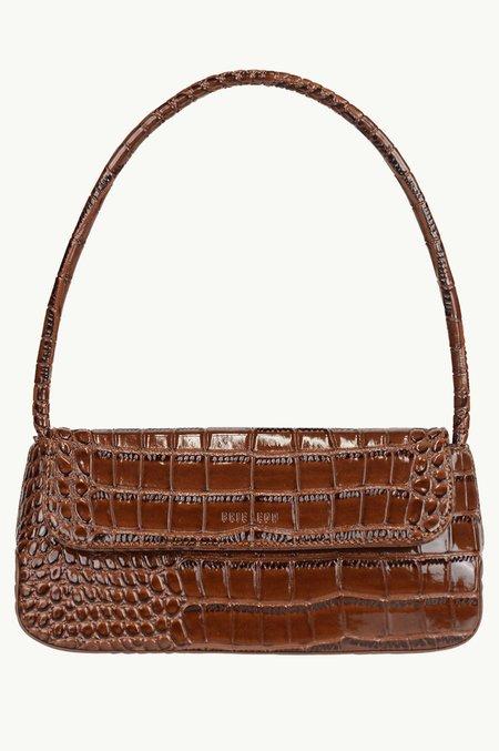 BRIE LEON The Camille bag - Dark Brown Oily Croc