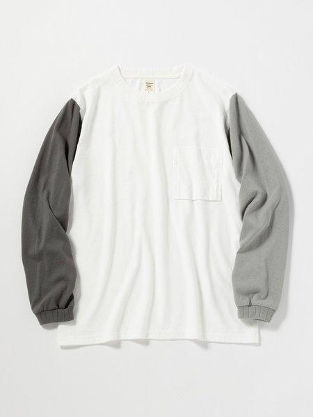 Jackman Long Sleeve Pocket T-Shirt - White/Grey