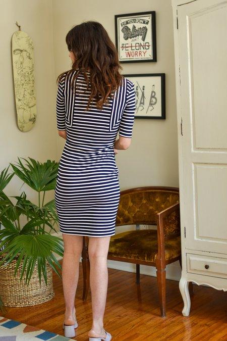 Valerie Dumaine Murielle Dress - Navy/Ivory