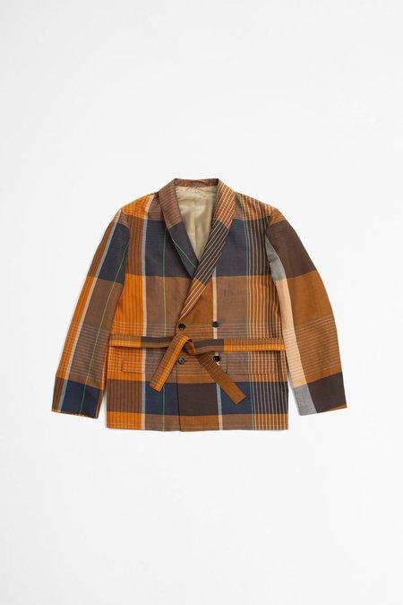 Unisex Lemaire Belted BD Jacket - Orange/Brown