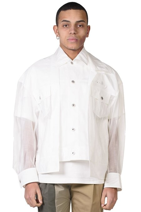 Feng Chen Wang 2 in 1 Transparent Jacket - white