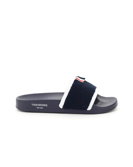 Thom Browne Terry Cloth Pool Slides - Multicolor