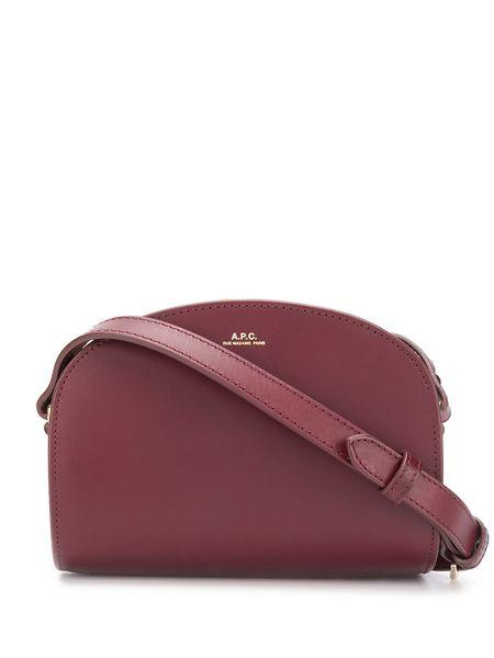 A.P.C. Mini Demi Lune Bag - Burgundy