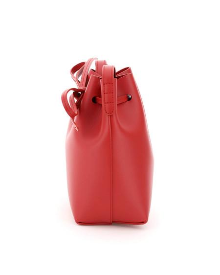 Mansur Gavriel Mini Mini Bucket Bag - red