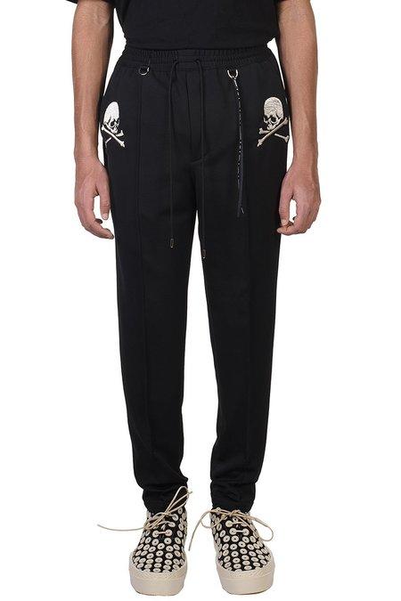 Mastermind World Embroidered Skull Pants - Black