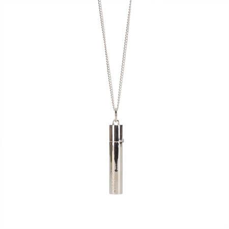 AMBUSH Pill case necklace - silver