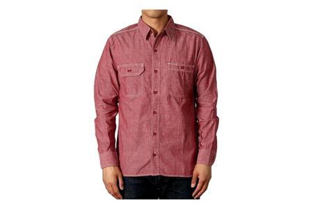 Momotaro Jeans 5oz Selvedge Chambray Work Shirt - Red