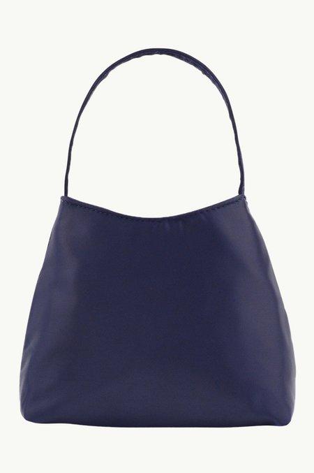 BRIE LEON The Mini Chloe  Bag - Navy Satin