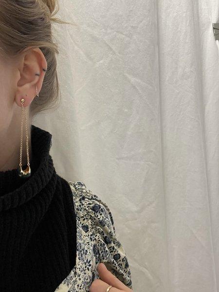 Rachel Comey Bungee Earring - Gold/Green
