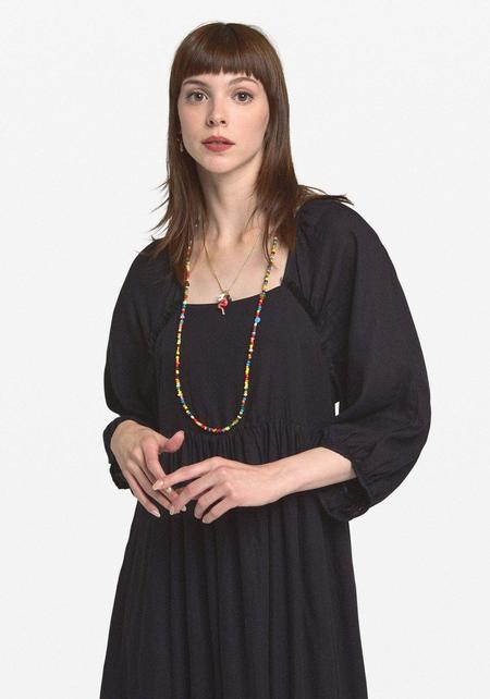 Ottod'Ame Empire Maxi Dress - Black