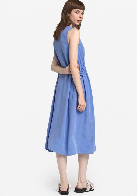 Ottod'Ame Gather Midi Dress - Blue