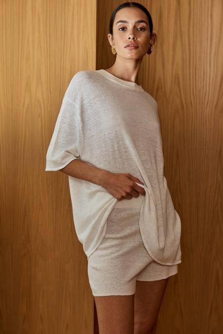St. Agni Hemp Knit Spencer Shorts