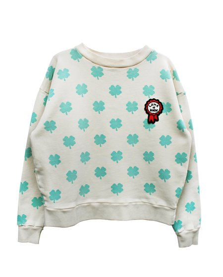 kids Bandy Button Luqi Sweat - White