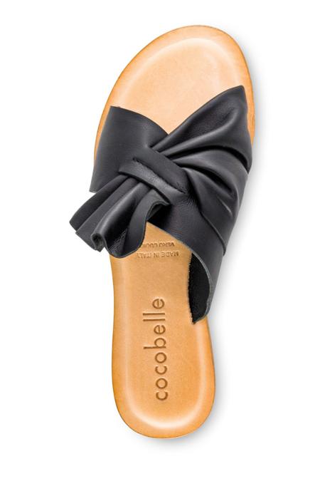 Cocobelle Brera Leather Sandal - Black