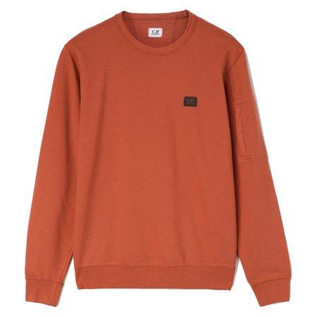 C.P. Company Light Fleece Garment Dyed Sweatshirt - Orange