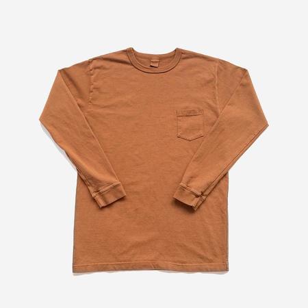 3Sixteen Garment Dyed Heavyweight L/S Pocket T-Shirt - Clove