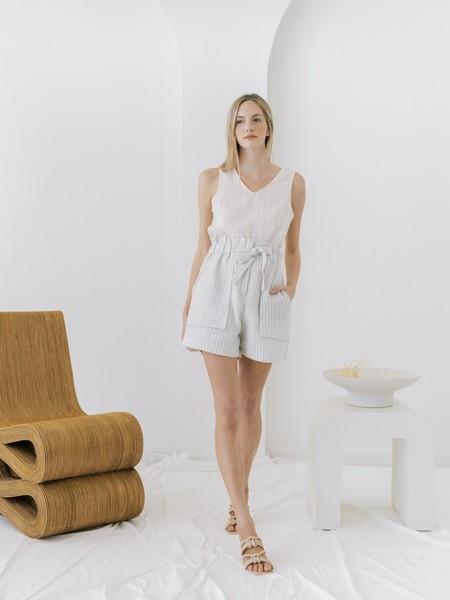 LAUDE the Label Paperbag Short - Sailor Stripe