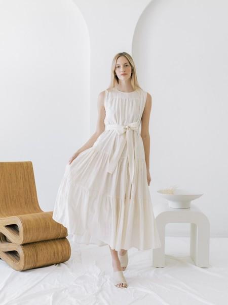 LAUDE the Label Tiered Maxi Dress - Ivory Khadi