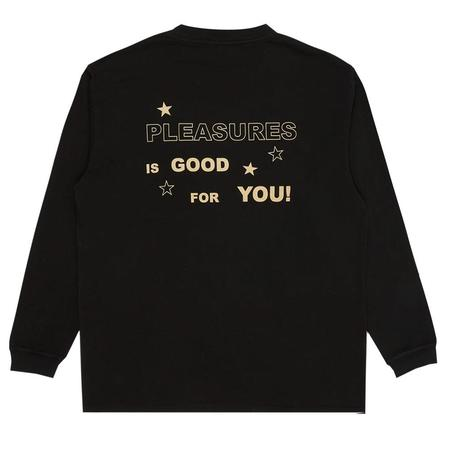 Pleasures Shout Heavyweight Long Sleeve Shirt - Black