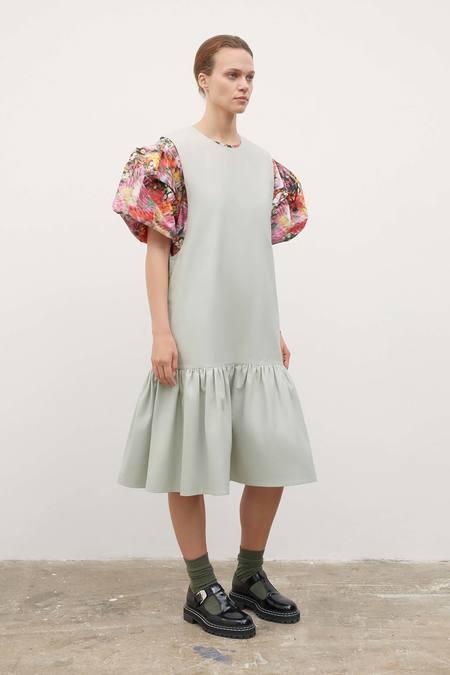 Kowtow Arch Pinafore Dress - mist