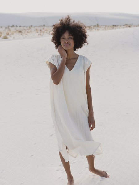 LAUDE the Label Wynne Dress - Ivory Khadi